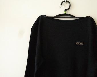 Vintage Moschino minimal logo long sleeve shirt