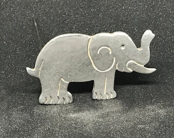 Vintage Taxco Sterling Silver Elephant Brooch Marked