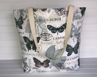 Handmade Everyday Tote | Market Bag |  Butterfly Tote