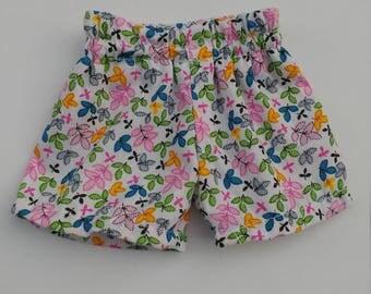 18 inch doll floral shorts 18 inch doll flowered shorts 18 inch doll
