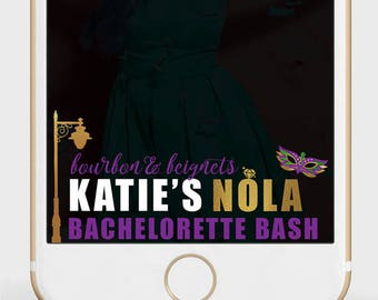 New Orleans Bachelorette Snapchat Filter | NOLA Bachelorette Geofilter | Bourbon & Beads | Bourbon and Beignets