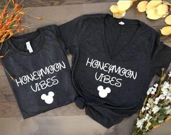 honeymoon vibes disney, disney couples shirts, disney shirts, disney marriage shirt, disney wedding, wedding shirts, mr and mrs, hubby wifey