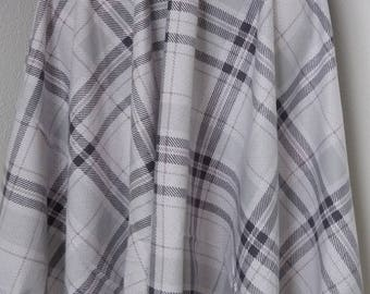 Grey and White Plaid Handkerchief skirt