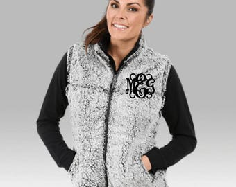 Monogram Sherpa Vest | **FREE SHIPPING** | Monogram Fleece Vest | Monogrammed Vests | Sherpa Fleece Vest | Personalized Sherpa