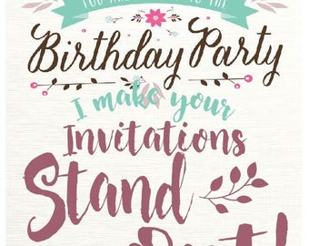 Wedding Invitation Layout and Print Service ** You provide the invitations**