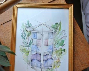 "Illustration ""Imaginary #2 house"""