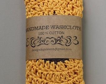 100% Cotton Washcloths / Dishcloths Adorable Flowers (set of 2)