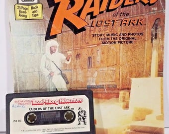 Read a Long Adventure  Raiders of the Lost Ark Kids Book Tape Set 1981