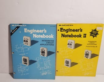 Vintage Archer Engineers Notebook I and II  Integrated Circuit Applications Mims