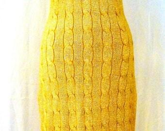 Vintage Gold Sweater Dress
