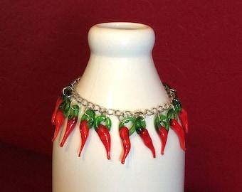Red chili pepper bracelet