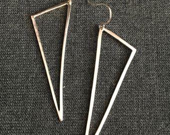 Geometric Sterling Silver Triangle Earrings