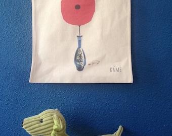 """Tote-Bag """"Nice poppy in the carafe"""""""