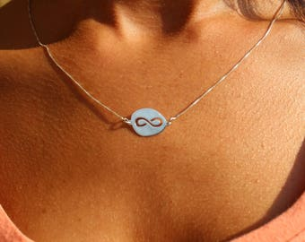 Friendship  Necklace, Infinity Necklace, Minimalist Necklace, Layered Necklace, Ring Necklace, Gold Necklace, Gift For Her,