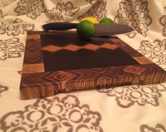 Exotic End Grain Cutting Bord