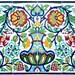 Centerpiece 18pcs Rooster Design - Antique Looking Kitchen Backsplash Hand Painted Ceramic Tiles Mosaic Decorative Wall Mural