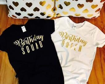 Birthday shirt women, birthday t shirt women, birthday squad shirt, birthday squad, squad goals, birthday t shirt set, birthday t shirts, 11