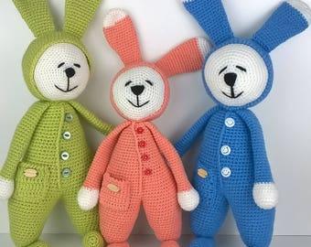 Crochet  toys ,Crochet baby toys ,Crochet bunny ,Handmade toys .Animal toys .Baby Gift,PlushieToy,Stuffed Toy,Animal,Rabbit,Unique,Cute