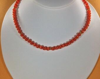 SALE 30% Tigers Eye Necklace,  Tiger's Eye Gemstone Necklace, Crystal Necklace ,    Valentine's Jewelry