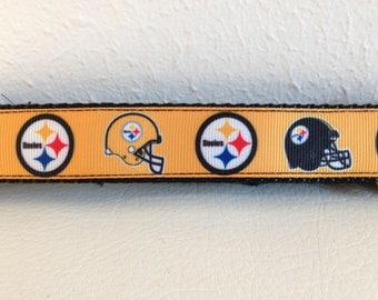 Martingale Dog Collar, Medium Gold and Black Martingale Collar, Medium Steelers Martingale Dog Collar, Medium Adjustable Dog Collar