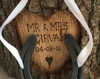 Personalised hand-forged Wedding Horsehoe, Good luck!