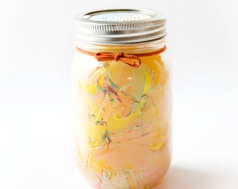 Lemon Salt Water Taffy Candle (16 Oz.) - Mason Jar Candles - Hand Poured Candles - Candle - Handmade Candles - Candles - Scented - Wax