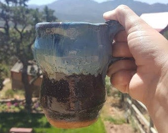 Arctic Blue Travel Mug with Handle