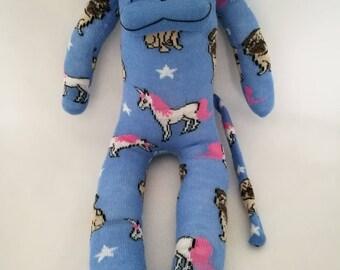 CE marked sock monkey  unicorn