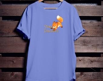 Cute Fox T-shirt - Dog Mom AF - Cute Animal T-Shirt - Stay Positive - Foxy Fox TShirt - Tee - Wildlife T-Shirt - Animal gift - Fox gift