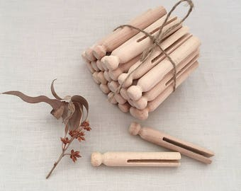25 Wooden Dolly Pegs - wooden crafts dolls clothes pegs - Bohemian Boho Decor Home baby child girl nursery room toy - dollhouse #0709