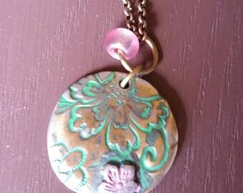 Brass Finish  Charm Necklace