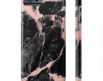Black and Rose Marble Phone Case (17 sizes)
