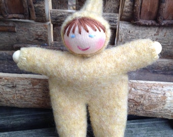 Yellow Walking Finger Puppet