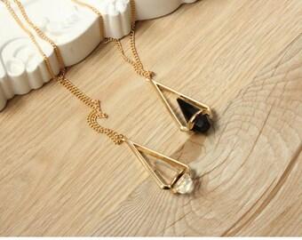 handmade necklace 18k gold goldfill chain Sodalite Gemstone