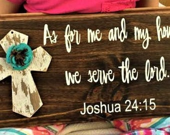 As for me and my house we will serve the lord-wooden sign-home decor-scripture-wall hanging