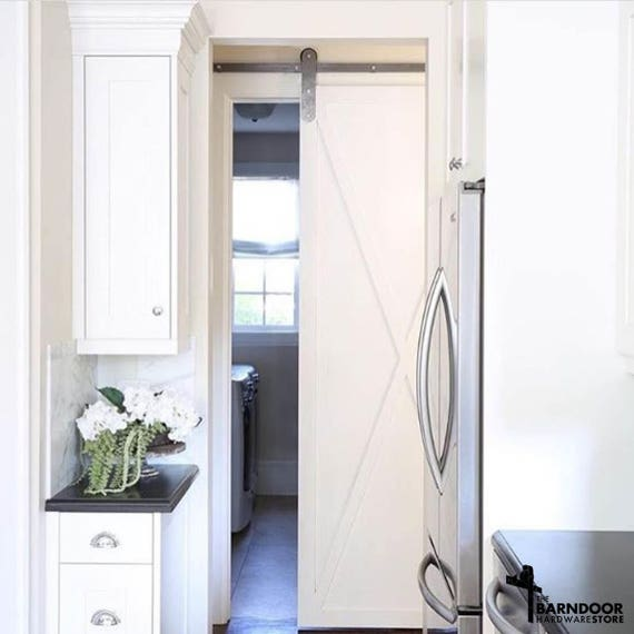 Modern Barn Door Hardware Kit Hangers Low Clearance Made In