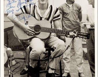 Gene Vincent signed autograph print