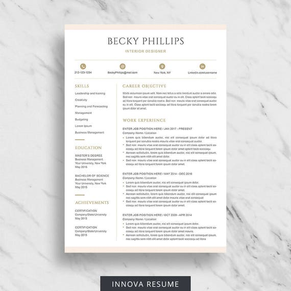 Resume Format Page 2: Modern Resume Template For Word Clean Resume Design Two