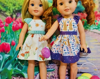 Easter Dress PATTERN for Wellie Wisher Dolls