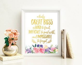 Boss Gift for Boss Appreciation A Truly Great Boss Is Hard To Find PRINTABLE Office Decor Retirement Gifts for Boss Going Away Gift for Boss