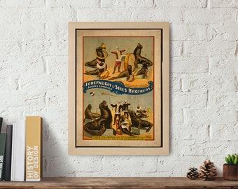 Circus Wall art Poster, Wall art print, vintage poster