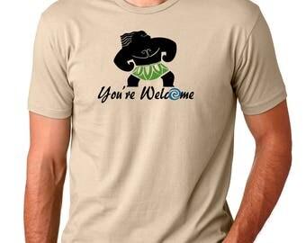 Mini Maui - Moana Shirt - Maui Shirt - You're Welcome - Disney Inspired T Shirt- Disney Shirt - Disney Men's Shirt