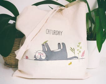 Tote bag, Animal quotes, Gift for her, Cat lover, Funny tote bag, School bag