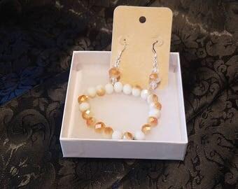 Stretch bracelet and earrings set