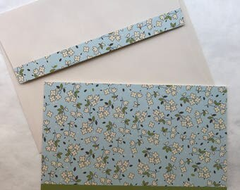 Soft and Simple Sympathy Handmade Greeting Card (pool aqua blue, green, ivory) With Deepest Sympathy