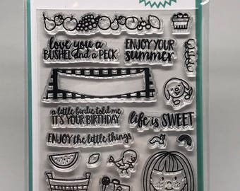 Destash Avery Elle Fruit Stand Clear Stamp Set *BRAND NEW * NIP * Photopolymer