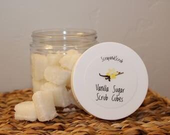 Vanilla Sugar Scrub Cubes, Sugar Scrub, Exfoliate