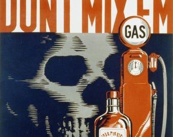 Poster A3 size frame vintage advertising.