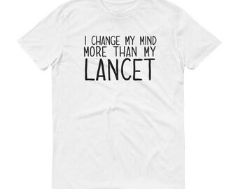 Funny Diabetic Diabetes Awareness Short-Sleeve Unisex T-Shirt