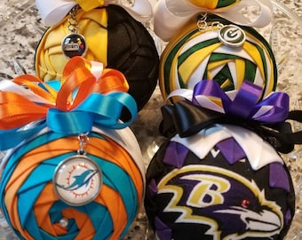 Personalized NFL Ornaments